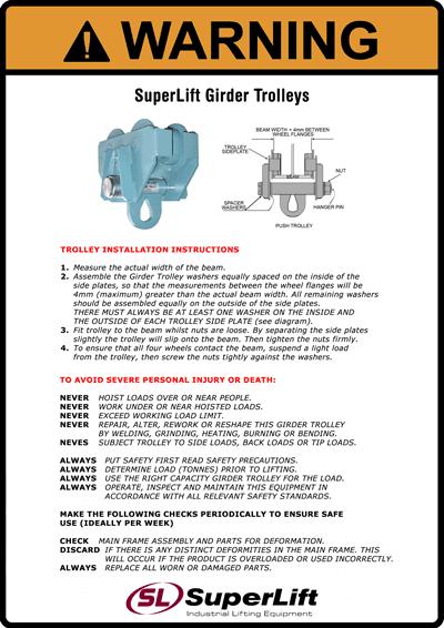 Girder Trolley Safety Bulletin Superlift Industrial