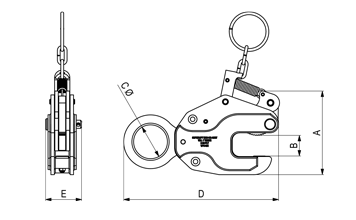 Vertical Plate Clamp Schematic