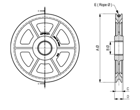 Sheave Schematic