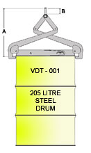 Vertical Drum Tong VDT-001 Line Drawing